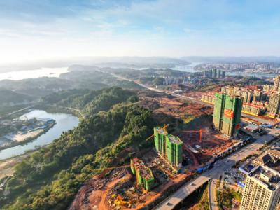 大汉龙城2020年11月高空全景